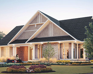 3D Elevation Rendering of Community Building