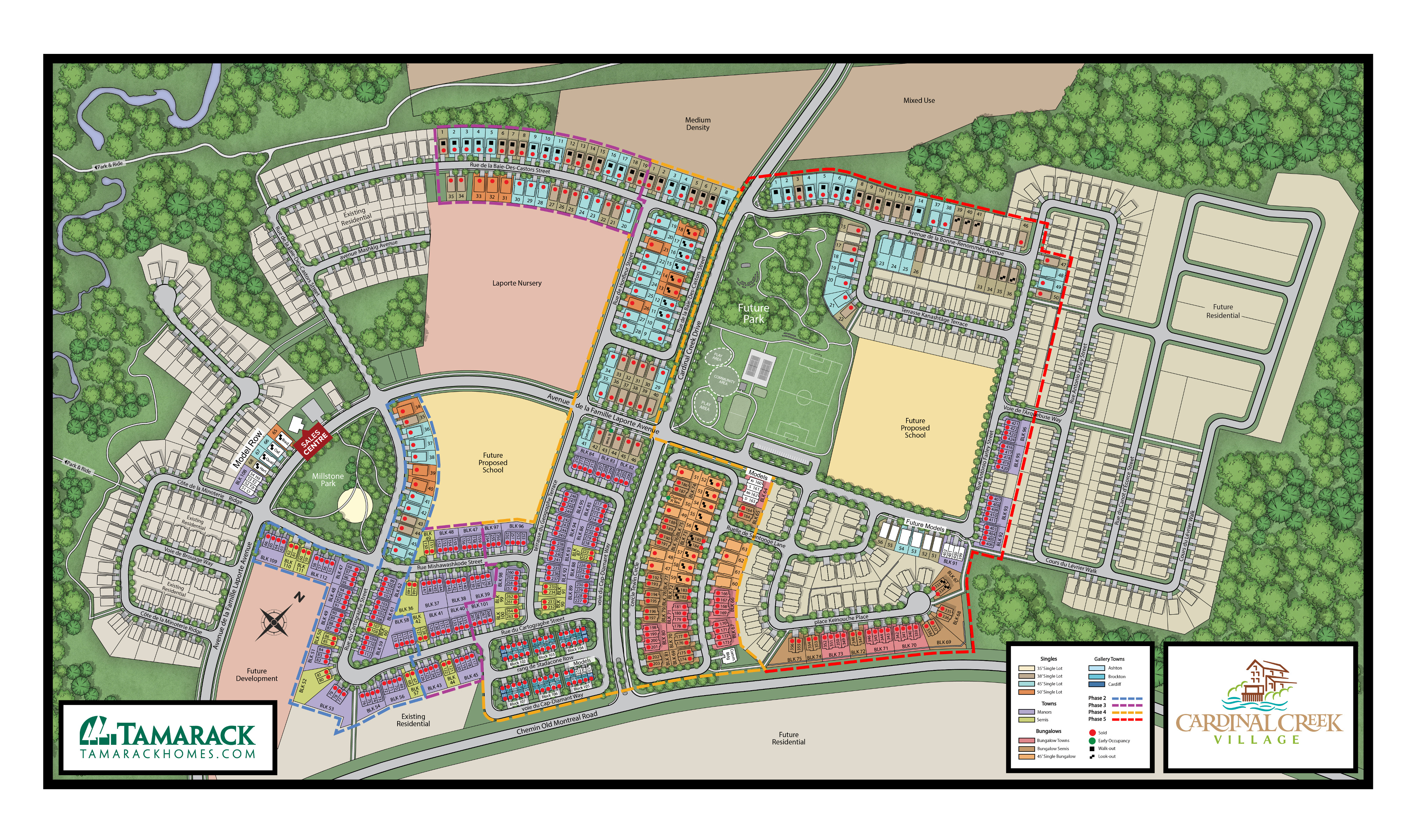 Cardinal Creek Village Sitemap