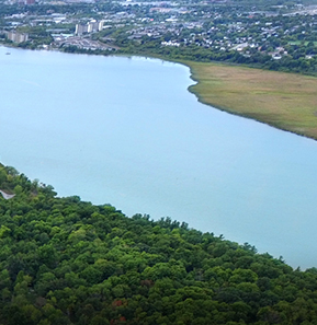 Aerial view of the Cataraqui River