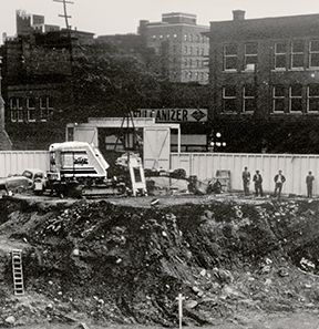 Historic image of Tamarack Homes construction site