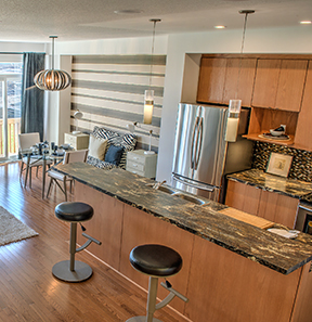 Beautifully designed and built Kitchen and Dining area from Tamarack Homes
