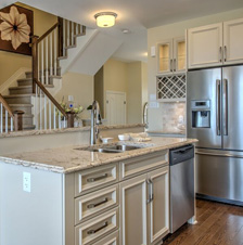 Beautifully designed Kitchen inside a Tamarack Homes Model House