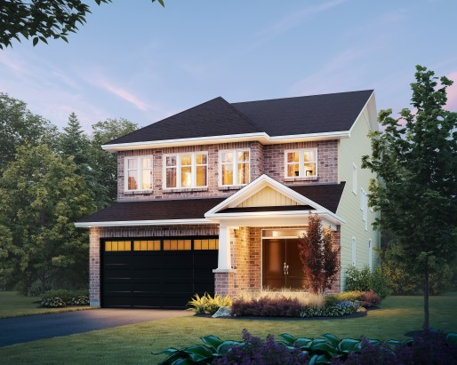 Devon Elevation Single Family Home by Tamarack Homes