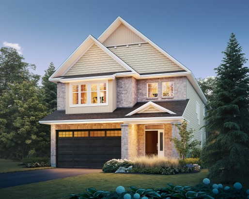 Hartland Elevation D  by Tamarack Homes