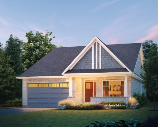Stirling Elevation Craftsman Single Family Home by Tamarack Homes