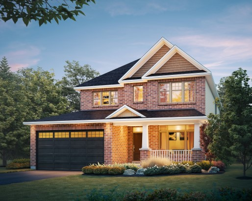 Dover Elevation B  by Tamarack Homes