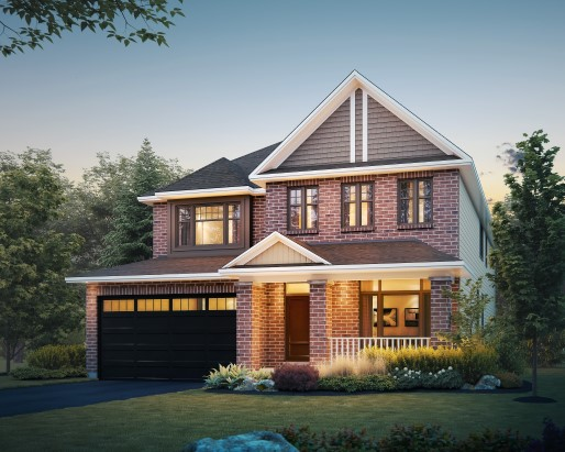 Oxford Elevation B  by Tamarack Homes