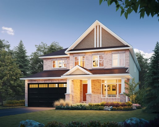St James Elevation Single Family Home by Tamarack Homes