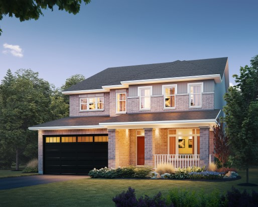 St James II Elevation B Single Family Home by Tamarack Homes