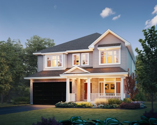 Regent Elevation A Single Family Home by Tamarack Homes
