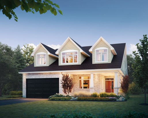Jamestown Elevation A Single Family Home by Tamarack Homes