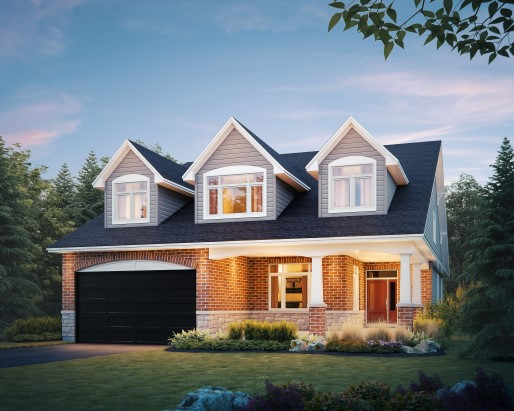 Jamestown Elevation B Single Family Home by Tamarack Homes