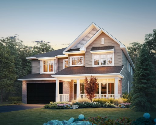 Bradbury Elevation A Single Family Home by Tamarack Homes