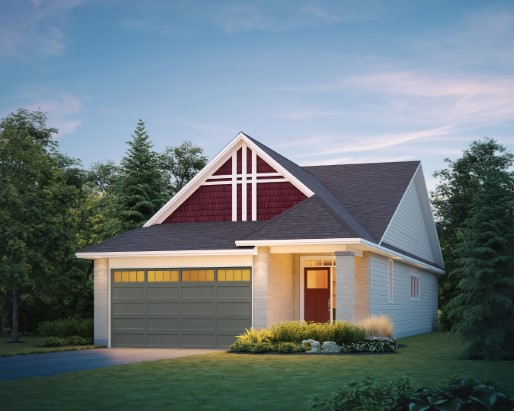 Carson Elevation Craftsman  by Tamarack Homes