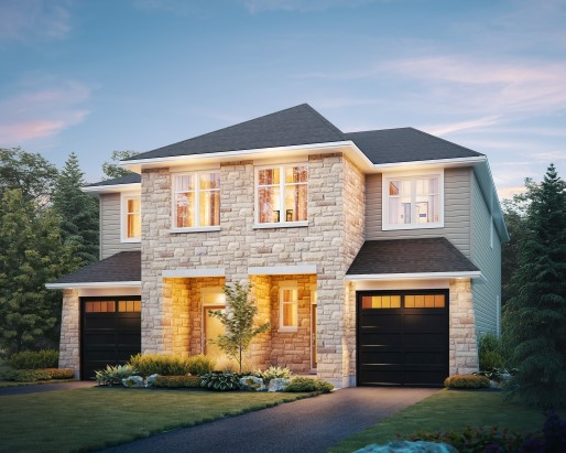 Newmarket Elevation Semi by Tamarack Homes