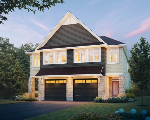 Folkstone Elevation Semi by Tamarack Homes