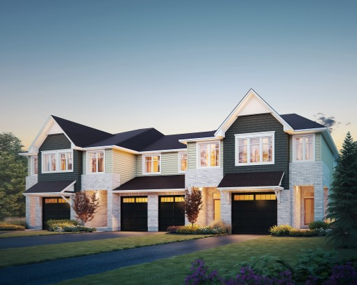 Sample Rendering of Townhomes Option