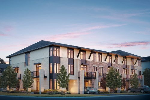 Cardiff Elevation A Gallery Town by Tamarack Homes
